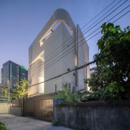 An inward-facing family home in Bangkok features in today's Dezeen Weekly newsletter