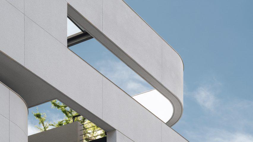 Facade opening detail, 55 Sathorn house by Kuanchanok Pakavaleetorn Architects
