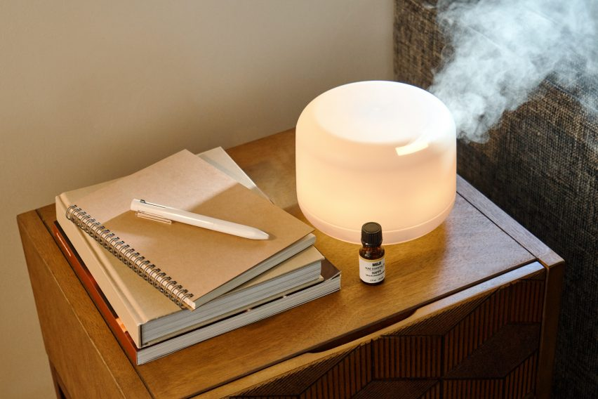 The kit features Muji favourites such as diffusers