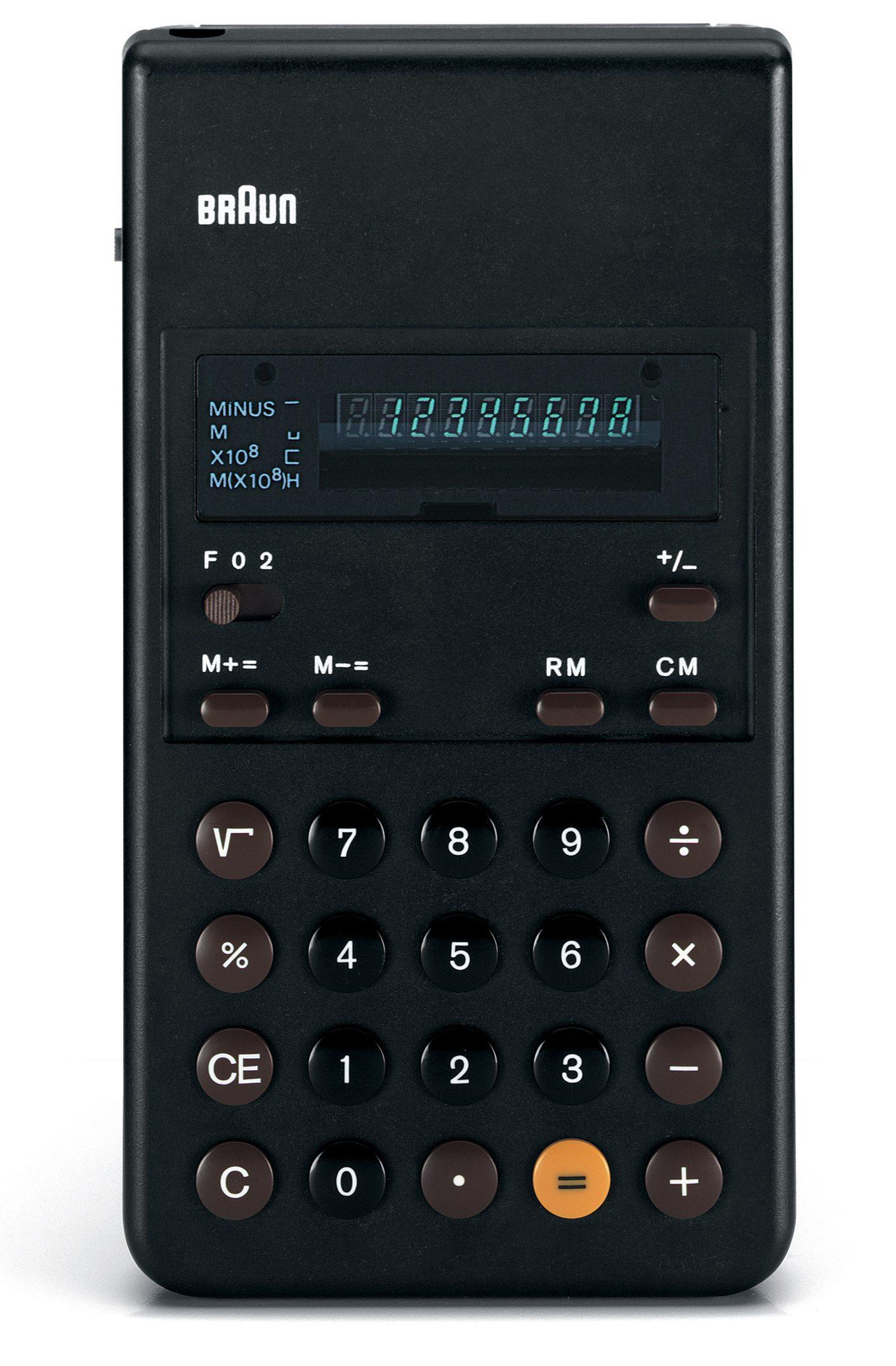 Braun black calculator
