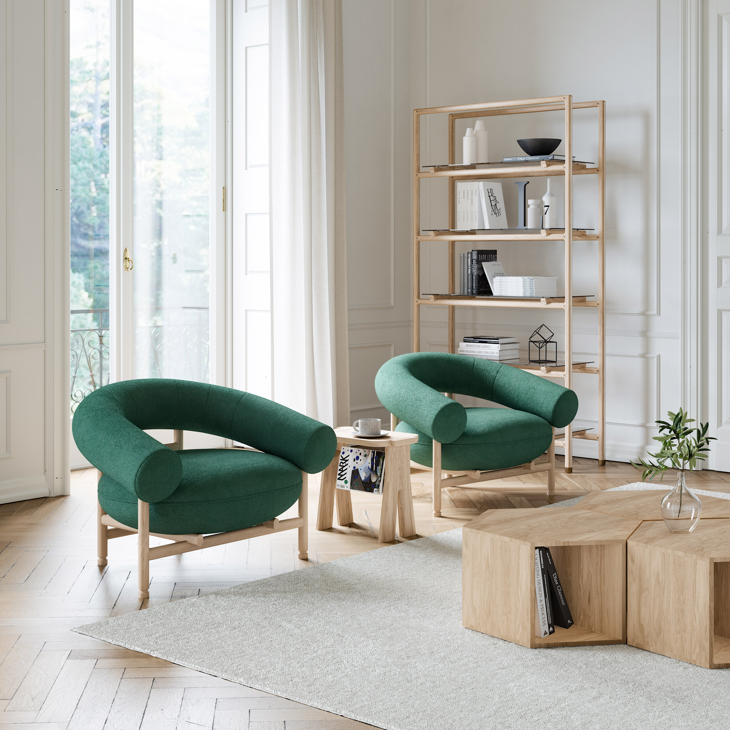 Loop lounge chair by David Girelli for Wewood
