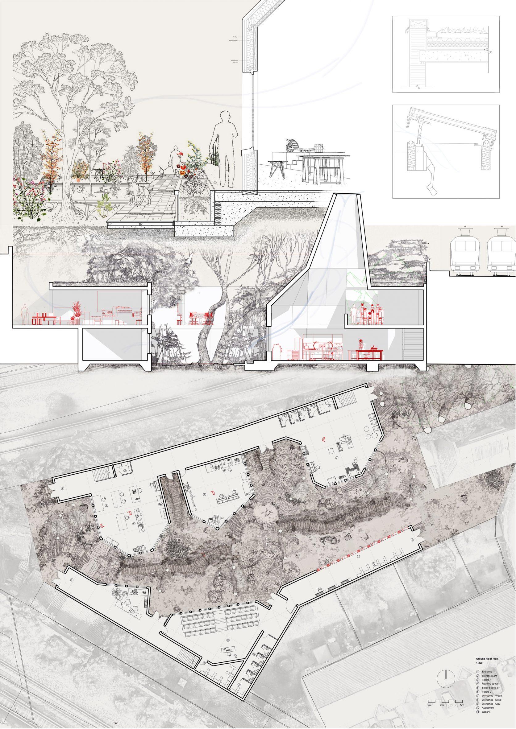 A visualisation of a model making workshop