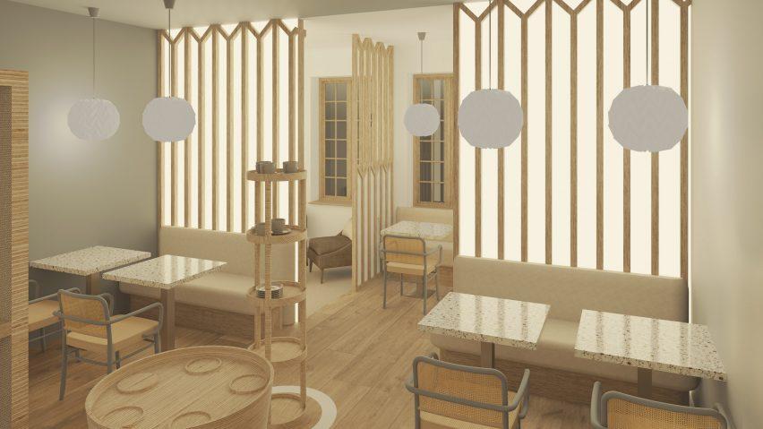 Landscape interior images for National Design Academy