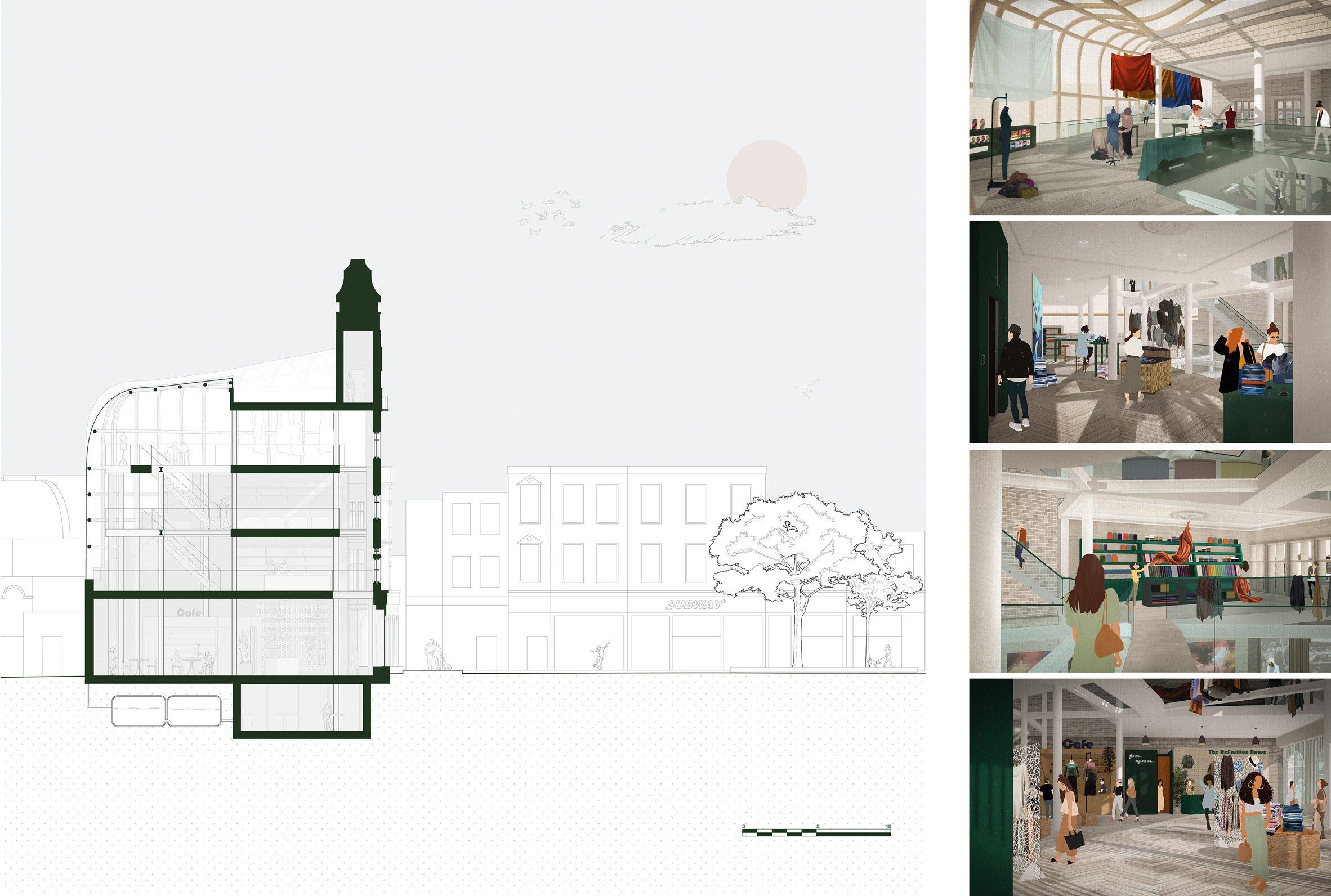 A visualisation of a fashion house