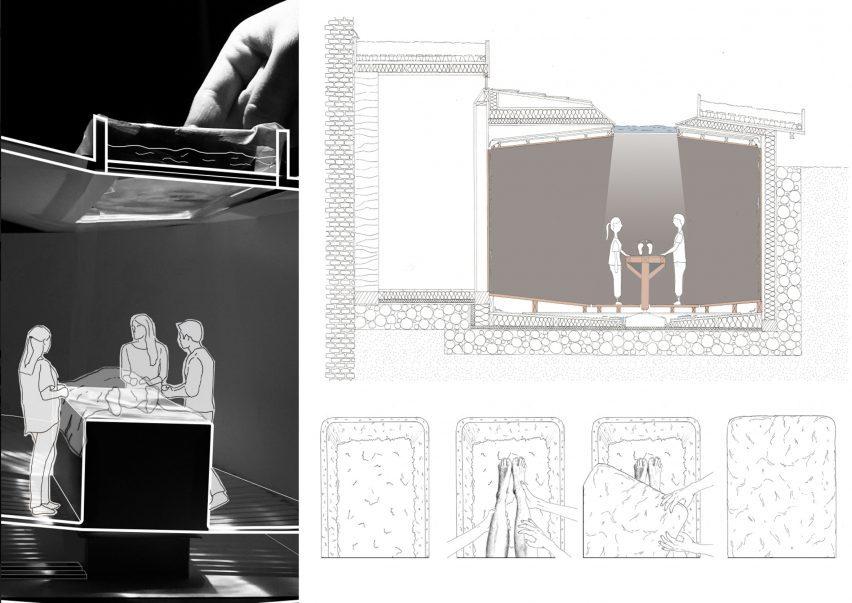 Illustrations of using mycelium