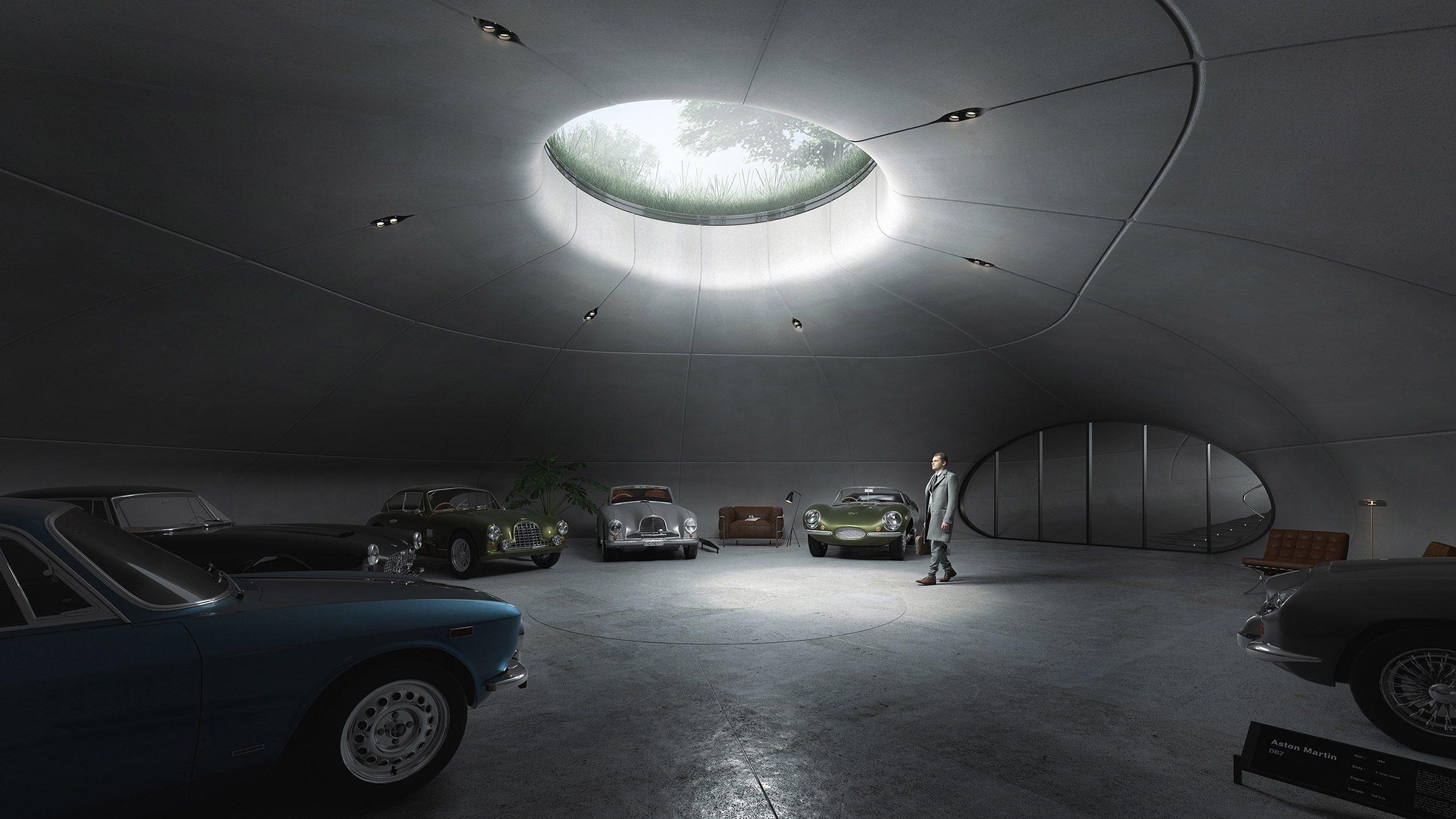 Underground parking cave