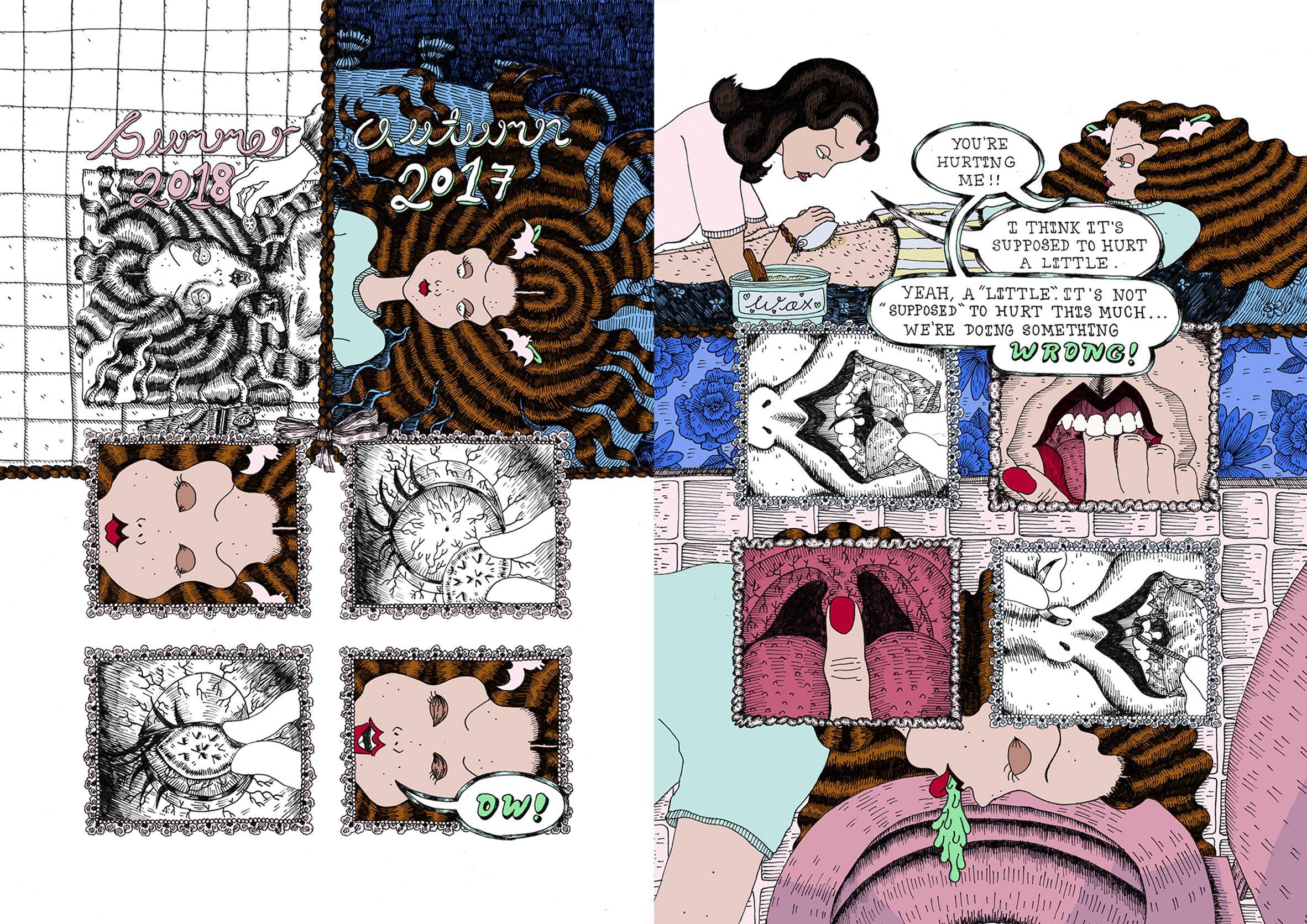 University for the Creative Arts illustration school show