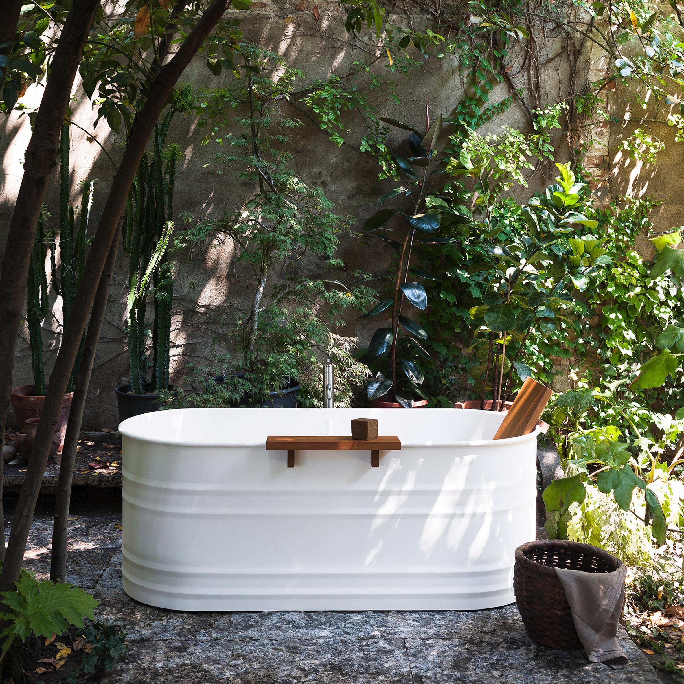 Vieques Outdoor bathroom range by Patricia Urquiola for Agape