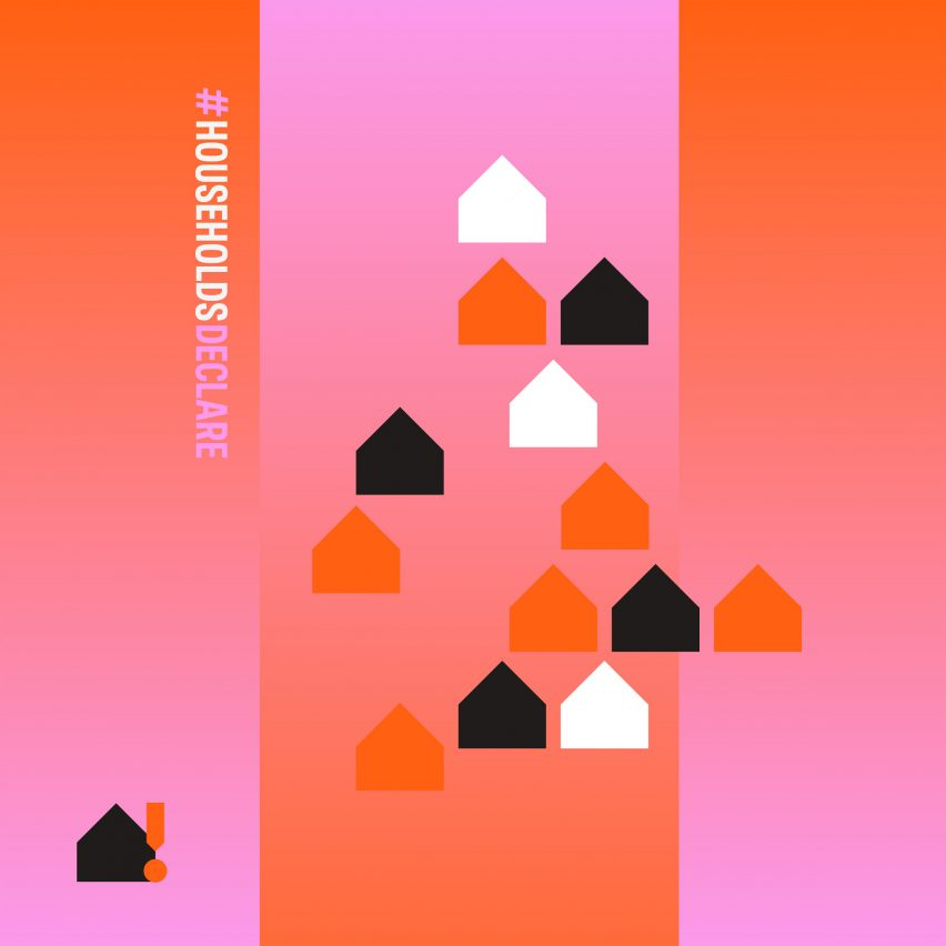 Colourful graphic of houses