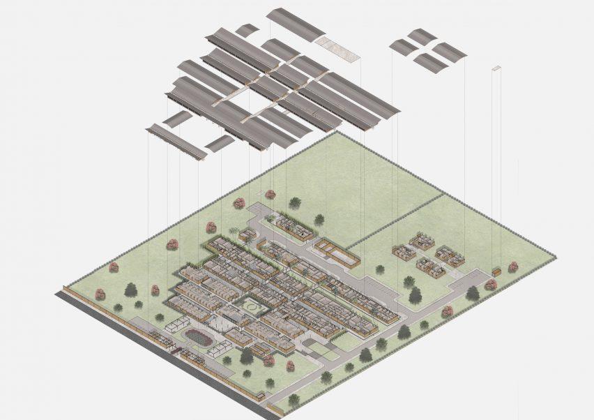 Hospital layout in Ghana