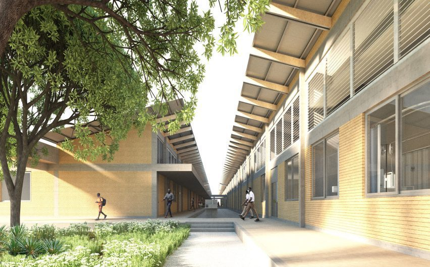 Linear blocks at David Adjaye-designed building
