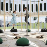 EcoLogicStudio uses algae to purify air inside enclosed playground for children