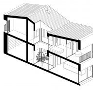 axonometric drawing of alaro house