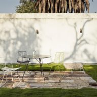 Leaf tables and chairs by Arper