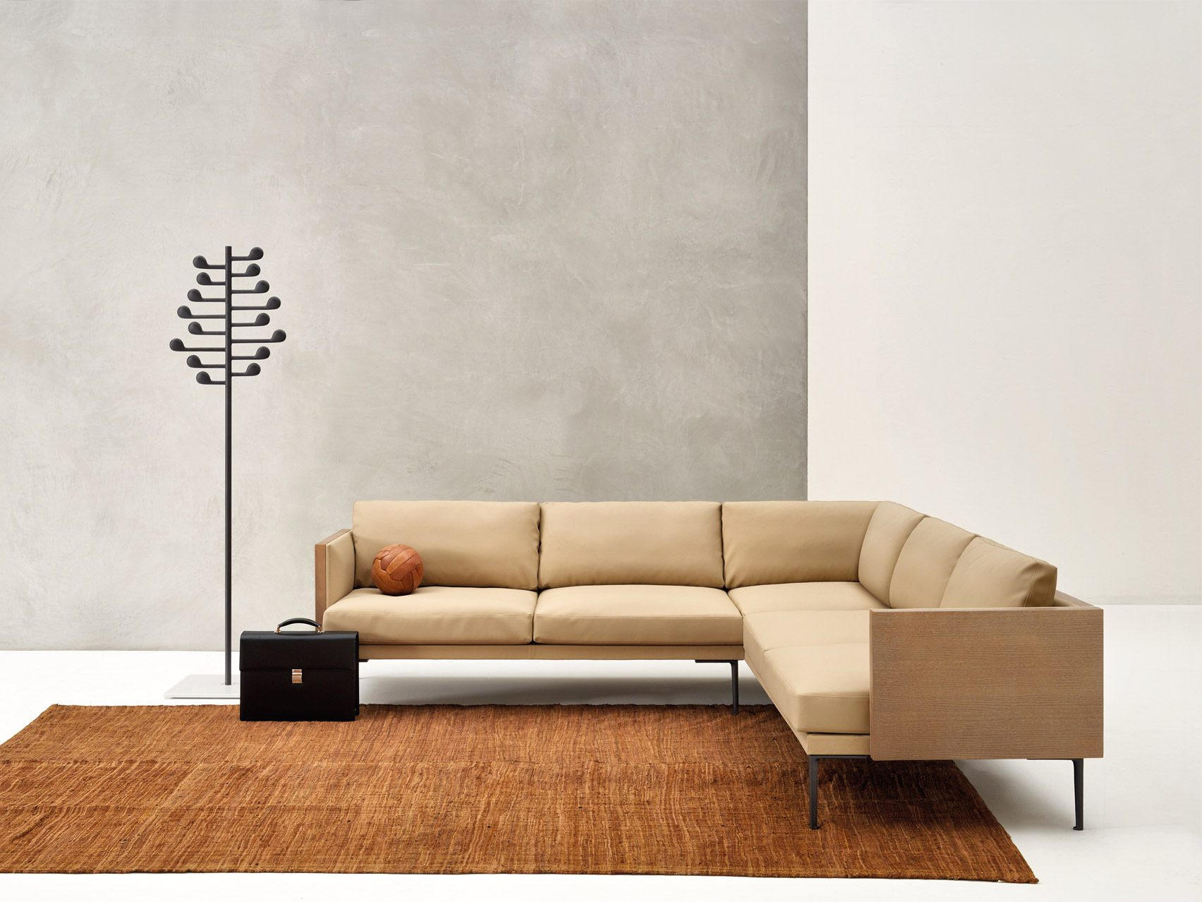 A cream-coloured sofa