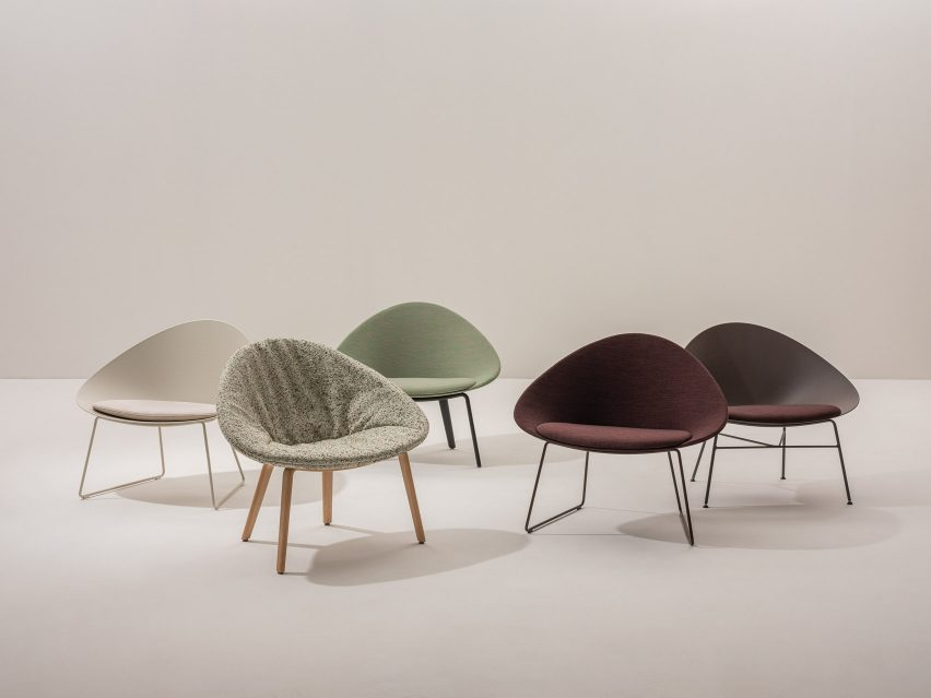 A selection of colourful chairs