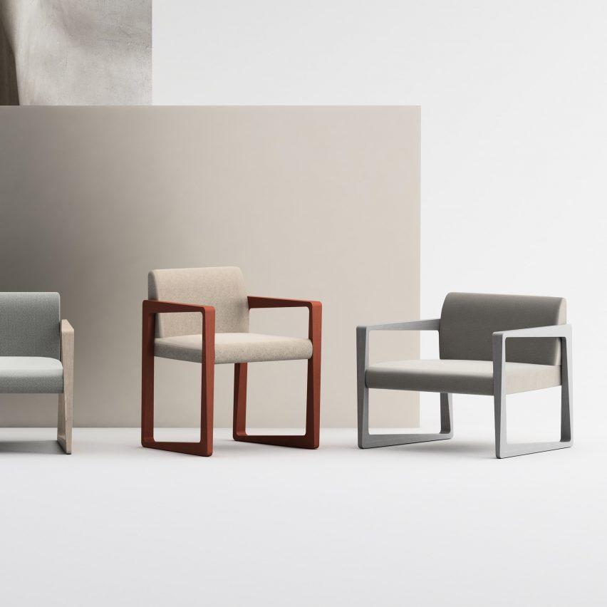 Угловатый обеденный стул и кресло для отдыха от StyleNations