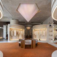 Liang Architecture Studio creates retrofuturistic boutique in Hangzhou