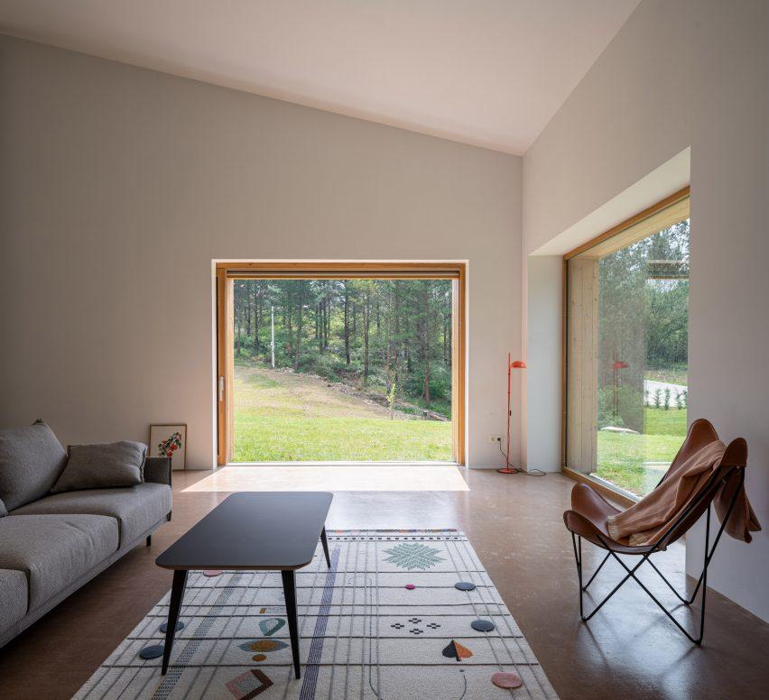 The living room of Caserío Azkarraga