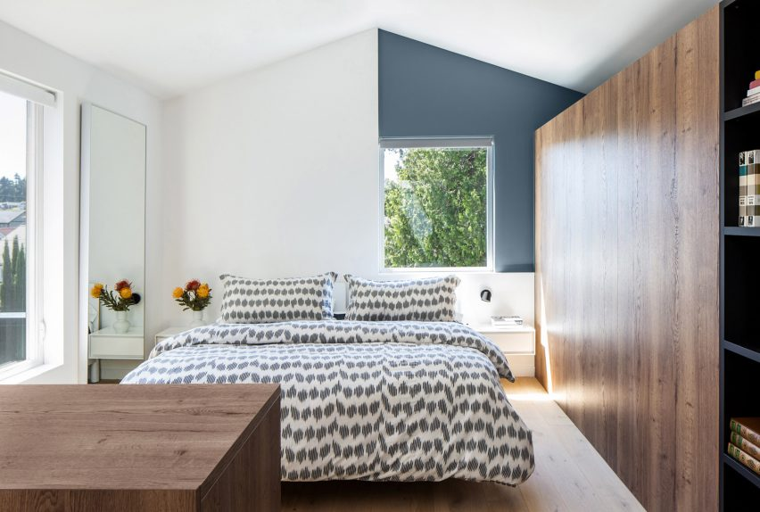 A bedroom suite designed by Best Practice Architecture in the extension