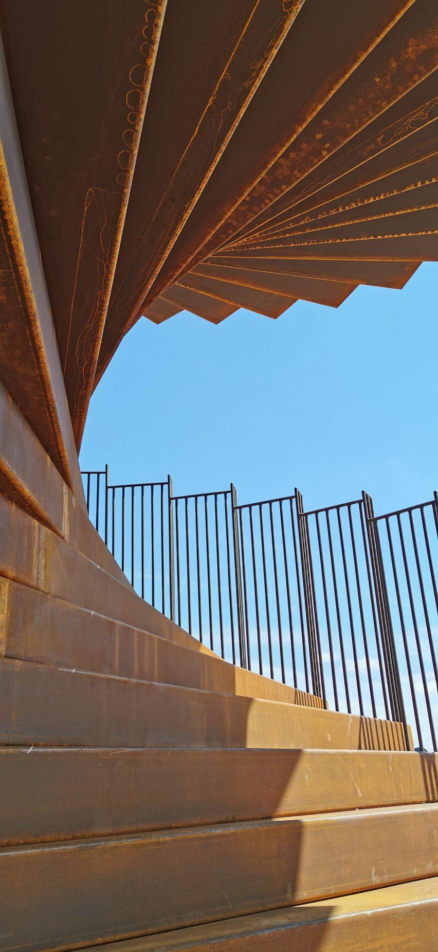 Steps in Camp Marsk viewing tower