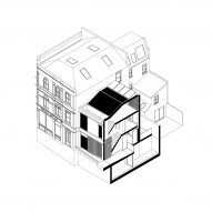 Axonometric diagram of the duplex homes