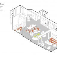 Communal lounge diagram, CAMHS Edinburgh