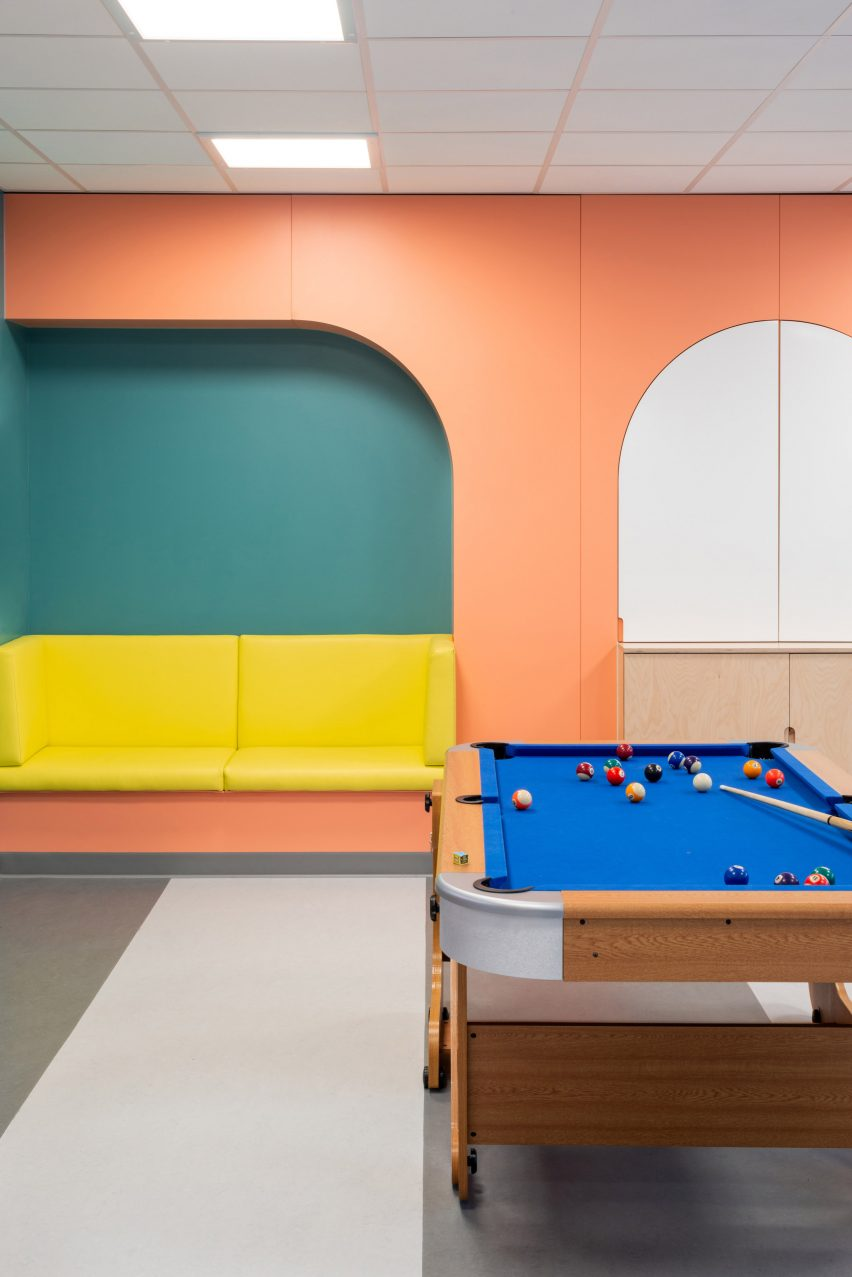 Lounge areas in common areas at CAMHS Edinburgh