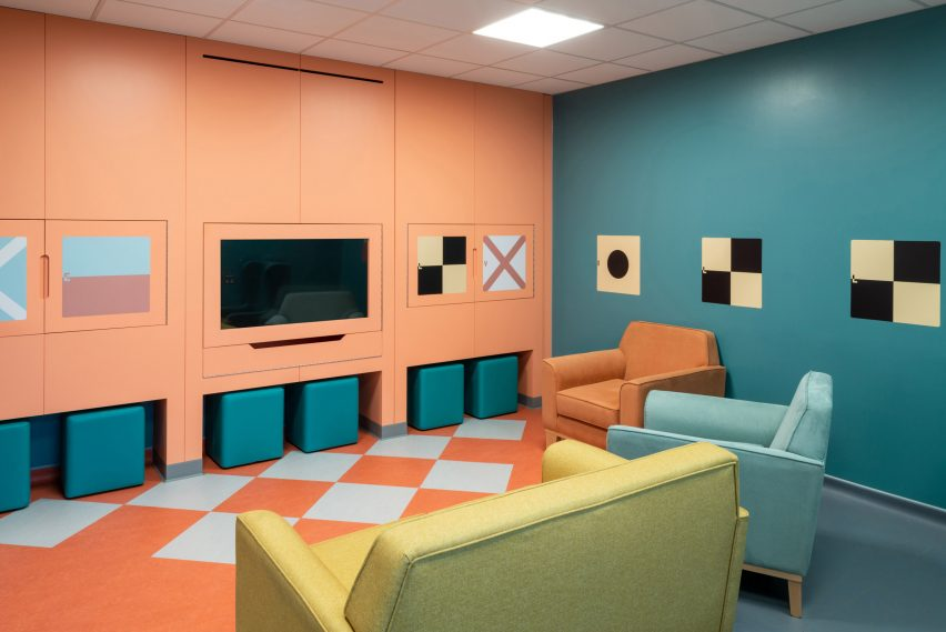 Quiet area in the common living room of the CAMHS Edinburgh Mental Health Unit