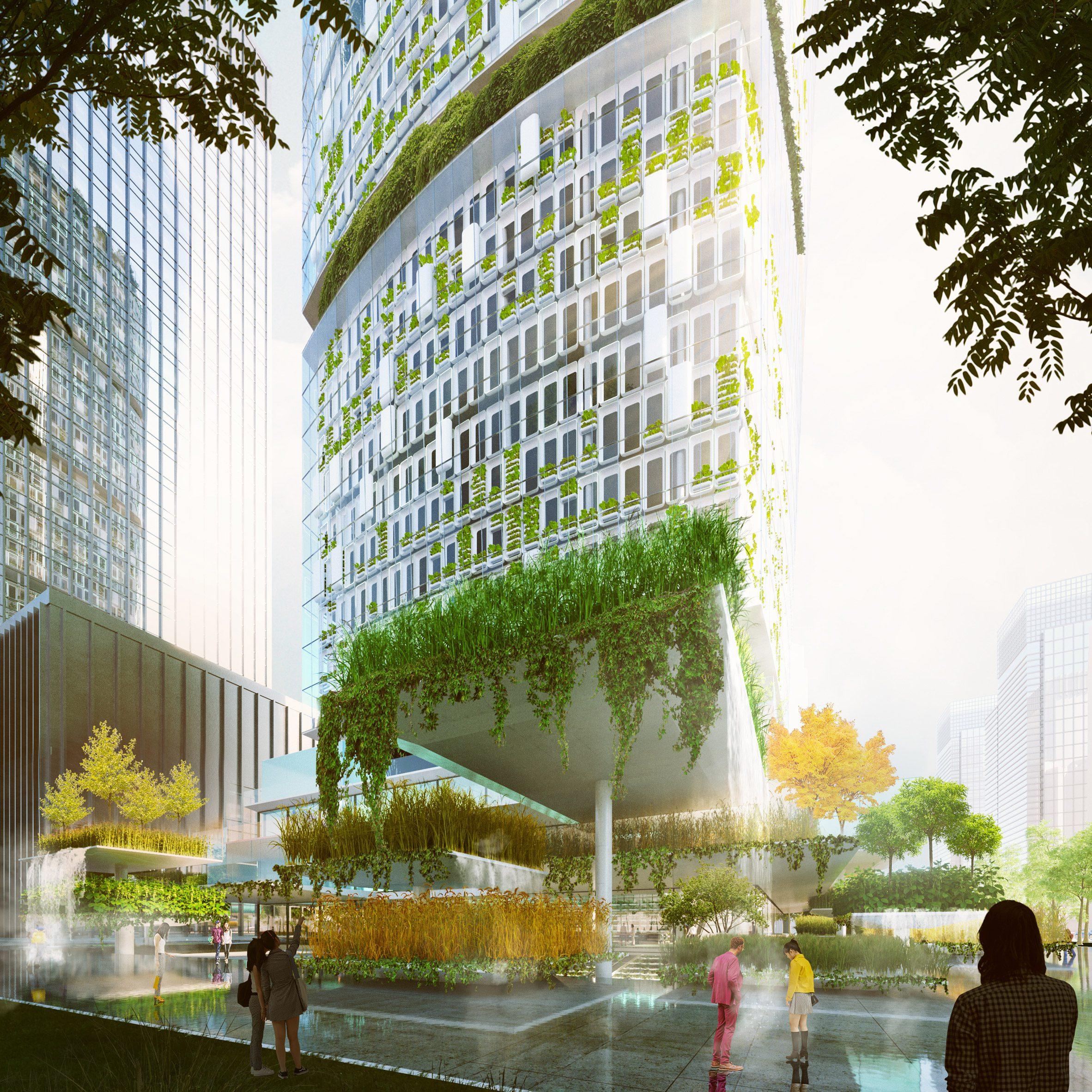 A visual of Jian Mu Tower