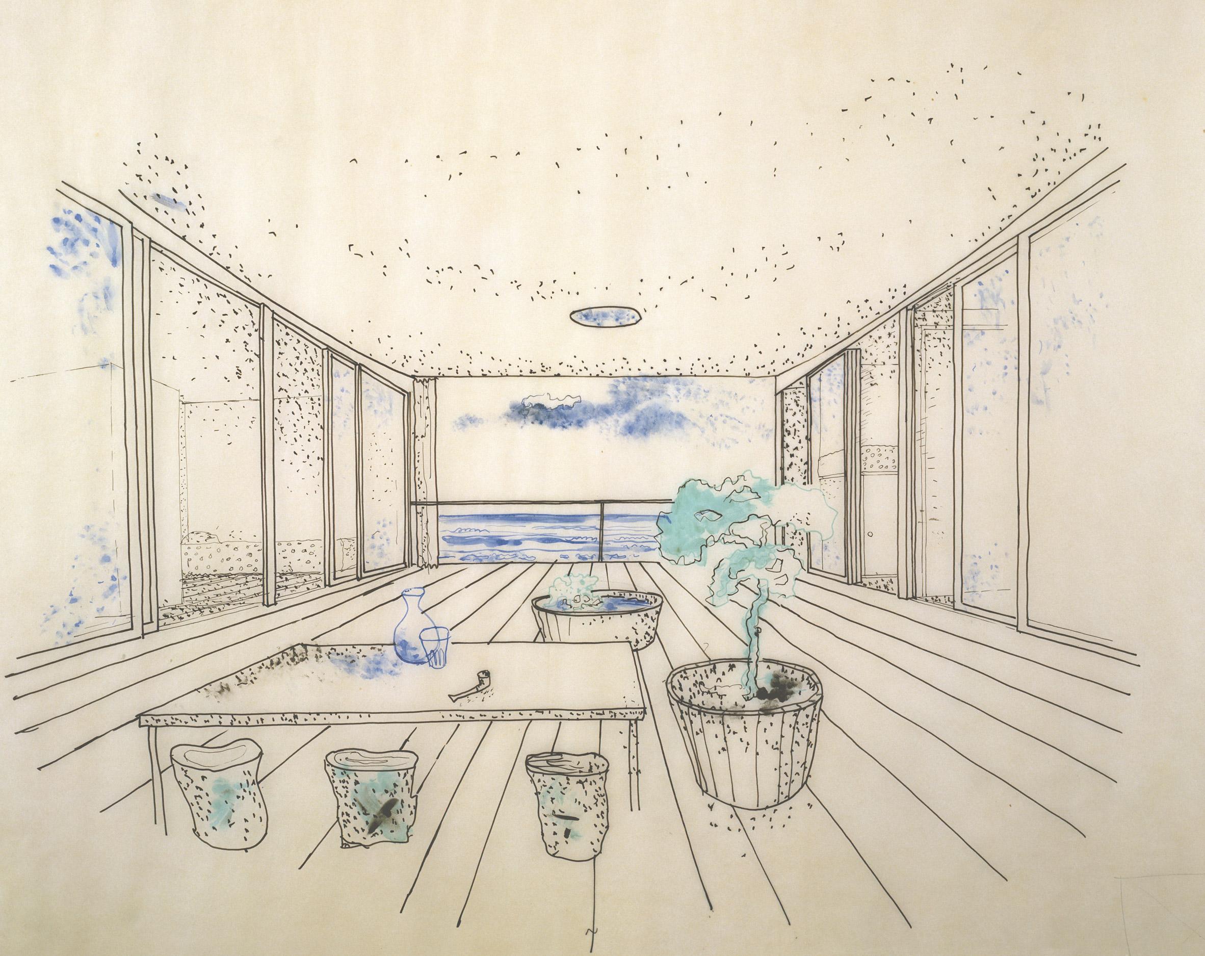 Charlotte Perriand's drawings of La Maison au bord de l'Eau