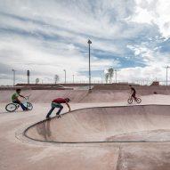 Mexican desert influences pink concrete La Duna skatepark in Ciudad Juárez