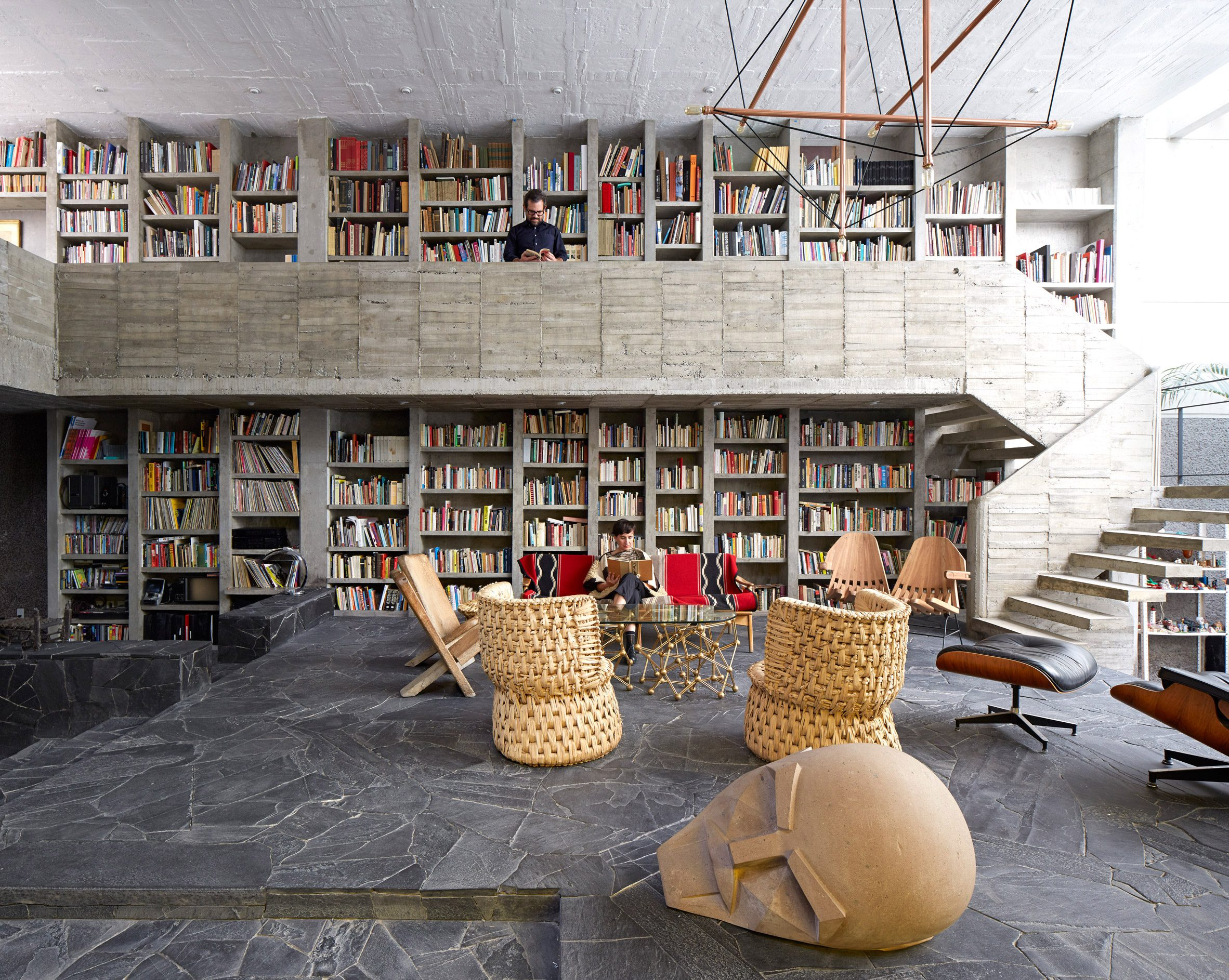 concrete living room by Pedro Reyes and Carla Fernandez