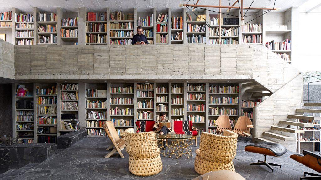 Ten concrete living rooms with decorative textures - Tech News