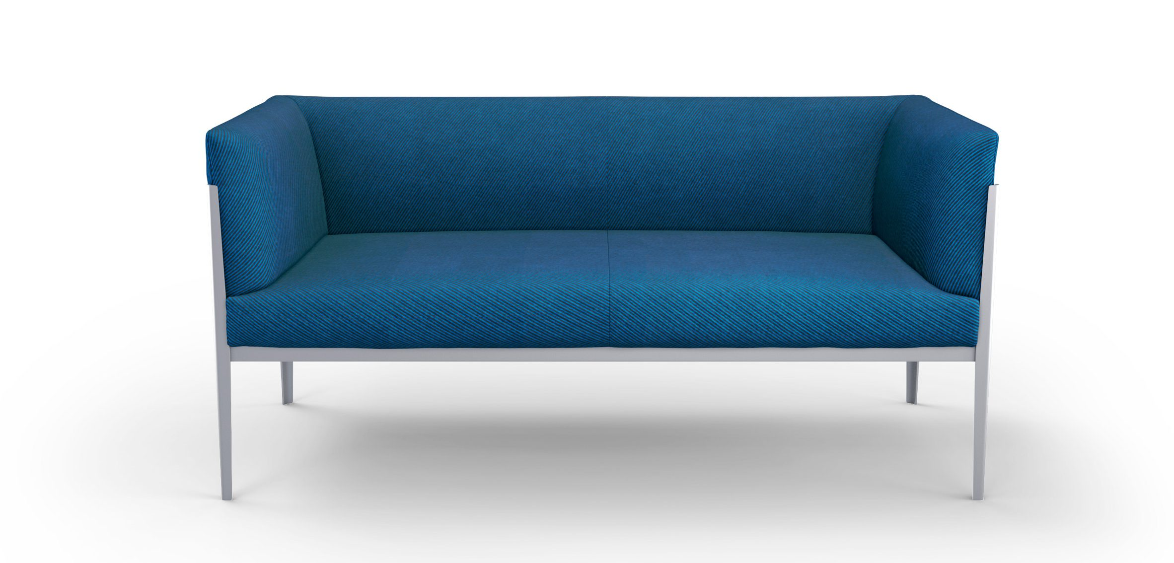 Blue sofa with a low back by Ronan and Erwan Bouroullec for Cassina
