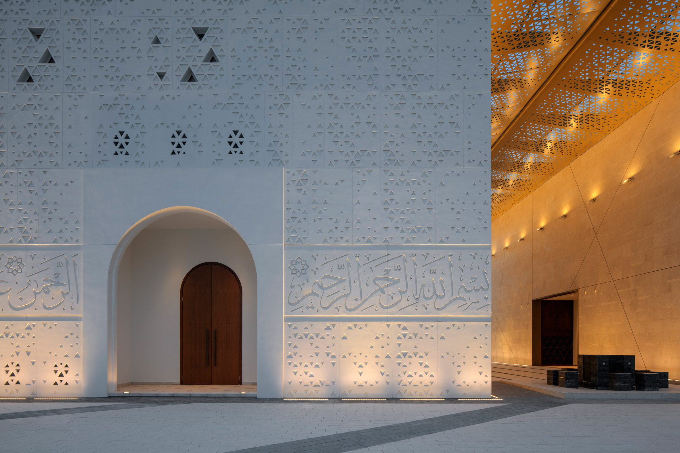 Calligraphy on mosque wall