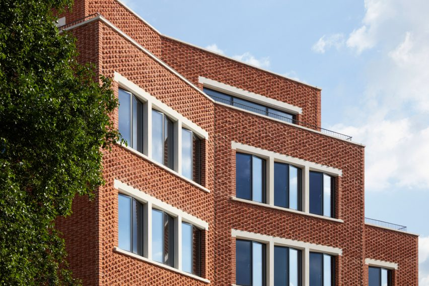 Brick facade of The Department Store Studios by Squire and Partners