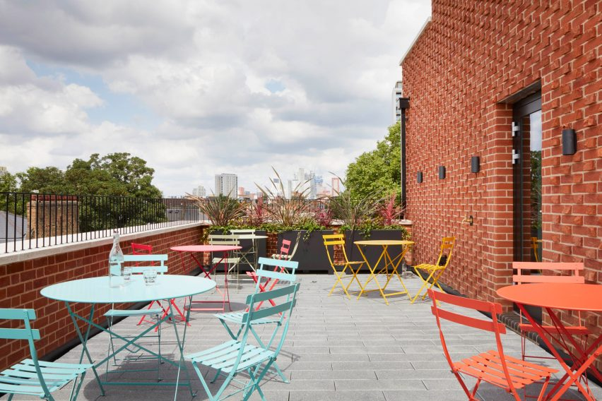 Roof terrace in The Department Store Studios by Squire and Partners