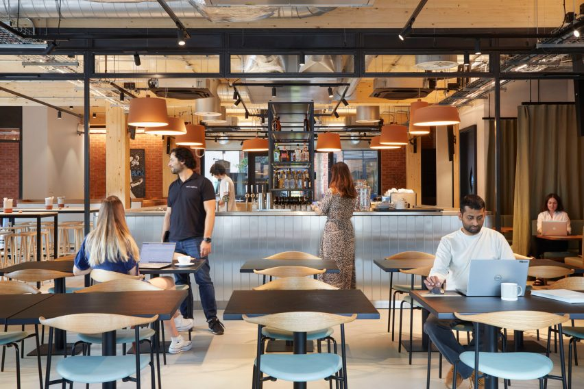Bellefields restaurant and bar in The Department Store Studios by Squire and Partners
