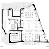 Ground floor plan, The Department Store Studios by Squire and Partners