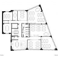 Second floor plan, The Department Store Studios by Squire and Partners