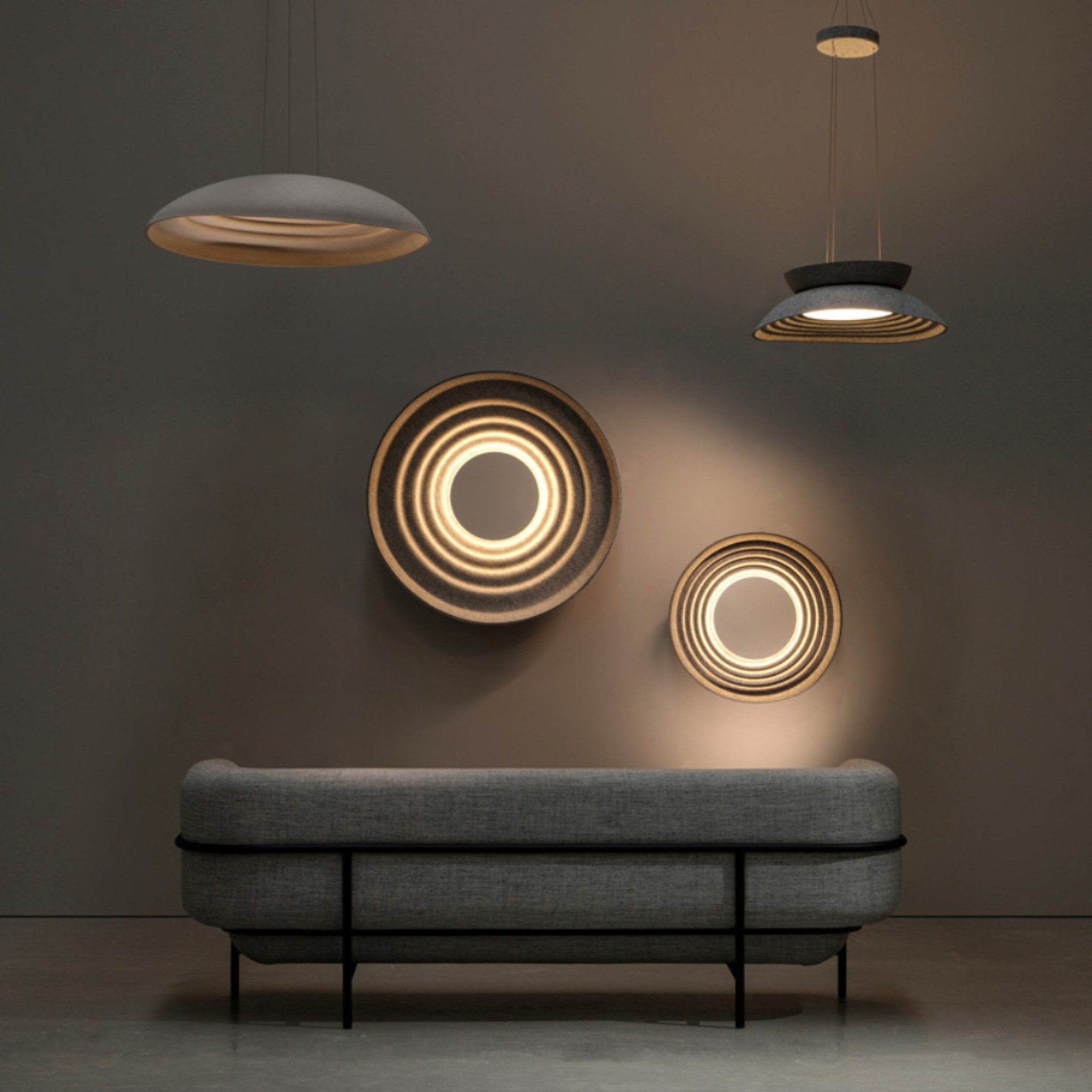Sparkle Acoustic Lighting Collection by Ali Berkman for Feltouch