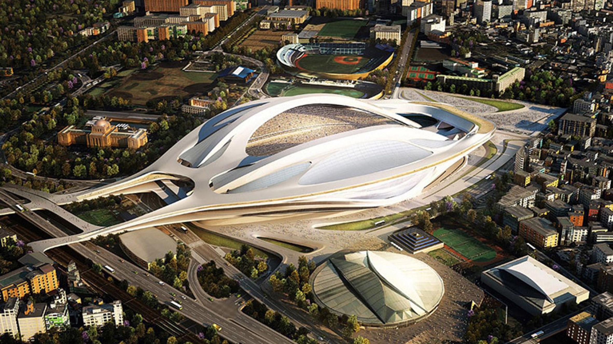 Zaha Hadid's Tokyo Olympic stadium design