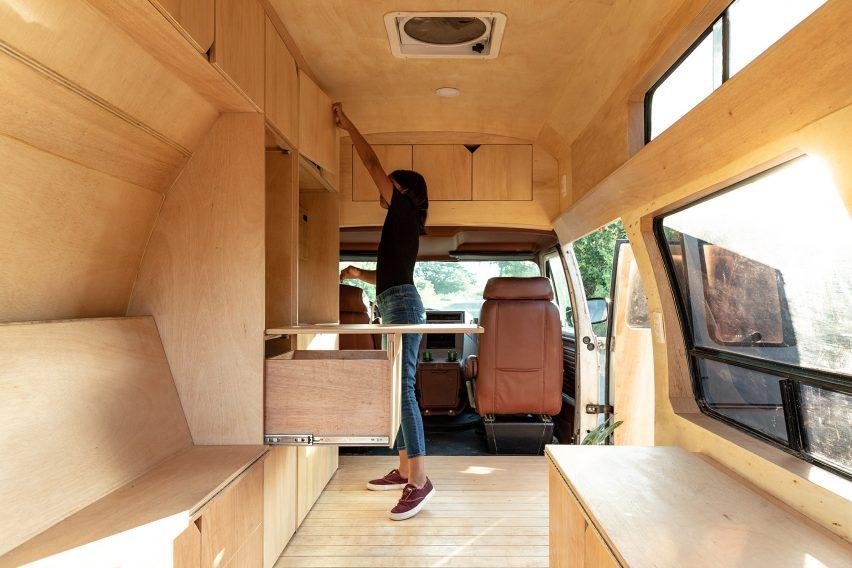 The plywood interiors of Dodo Van