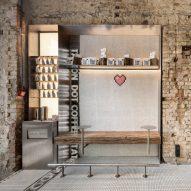 YOD Group installs pixel-like mosaics inside Kyiv coffee bar