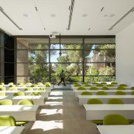 A university classroom