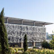 Foster + Partners wraps aluminium screens around university laboratory in Jerusalem