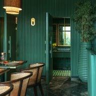 Studio Renesa creates green granite interior for restaurant in Punjab