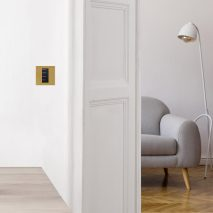 Palladiom Bespoke Metals lighting control collection by Focus SB and Lutron Electronics