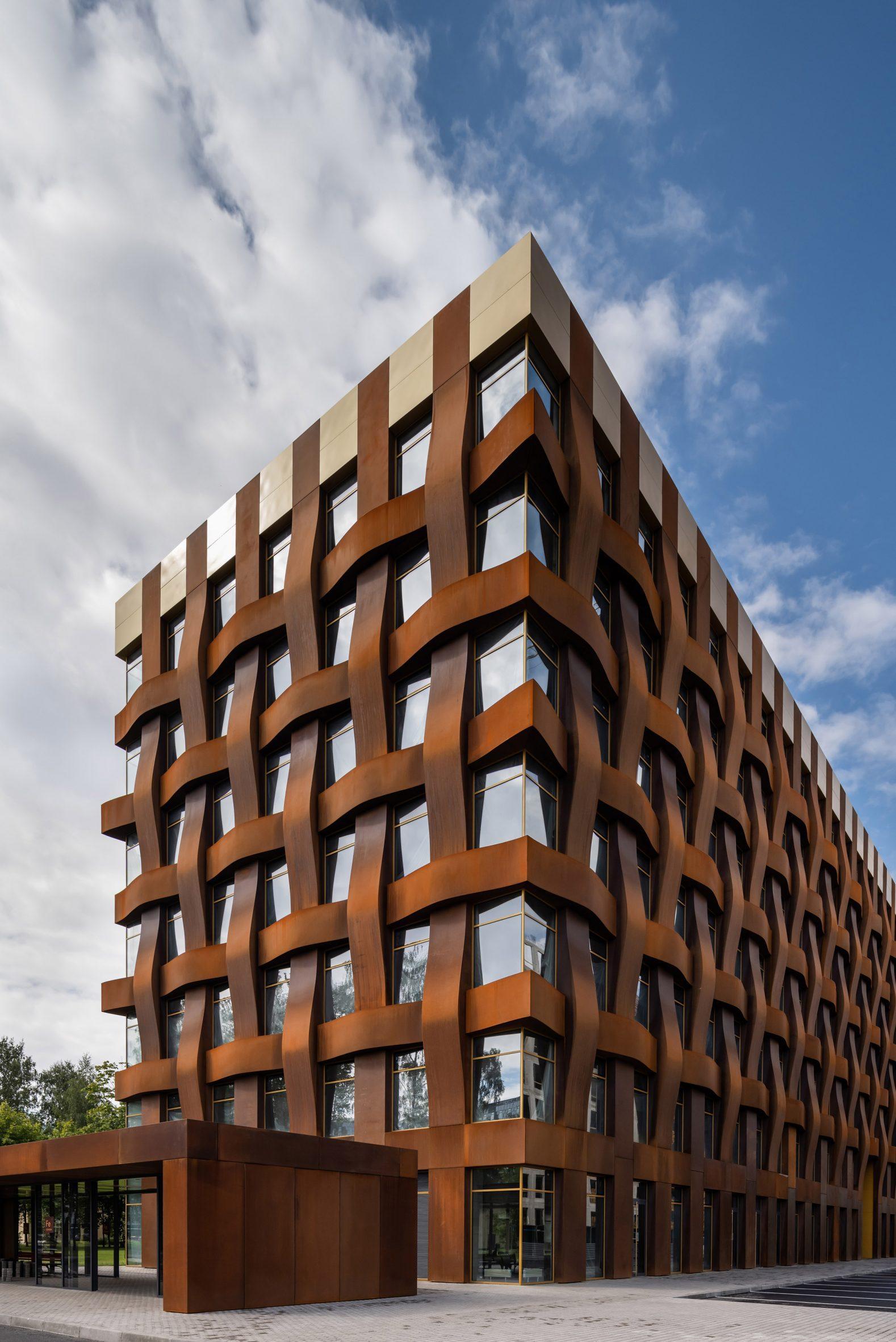 End wall of Ferrum 1 by Tchoban Voss Architekten